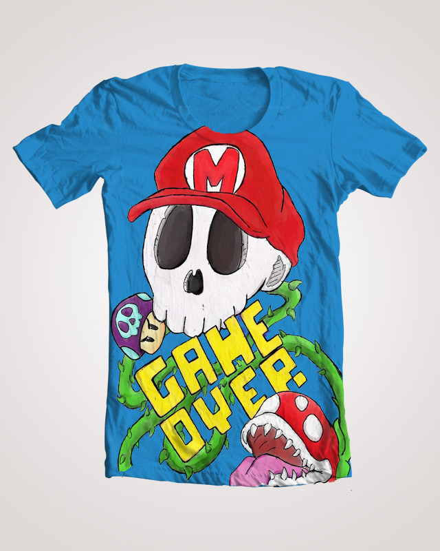 Game over t shirt design threadless by lepoubelle on for T shirt design game