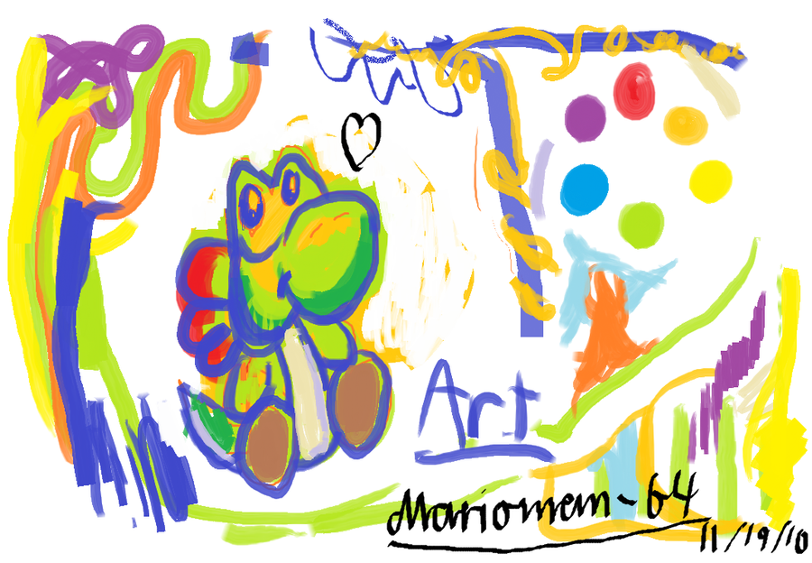 Yoshi messy MS paint by Marioman-64