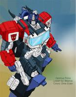 Energon Optimus Prime by kerfufflecolor