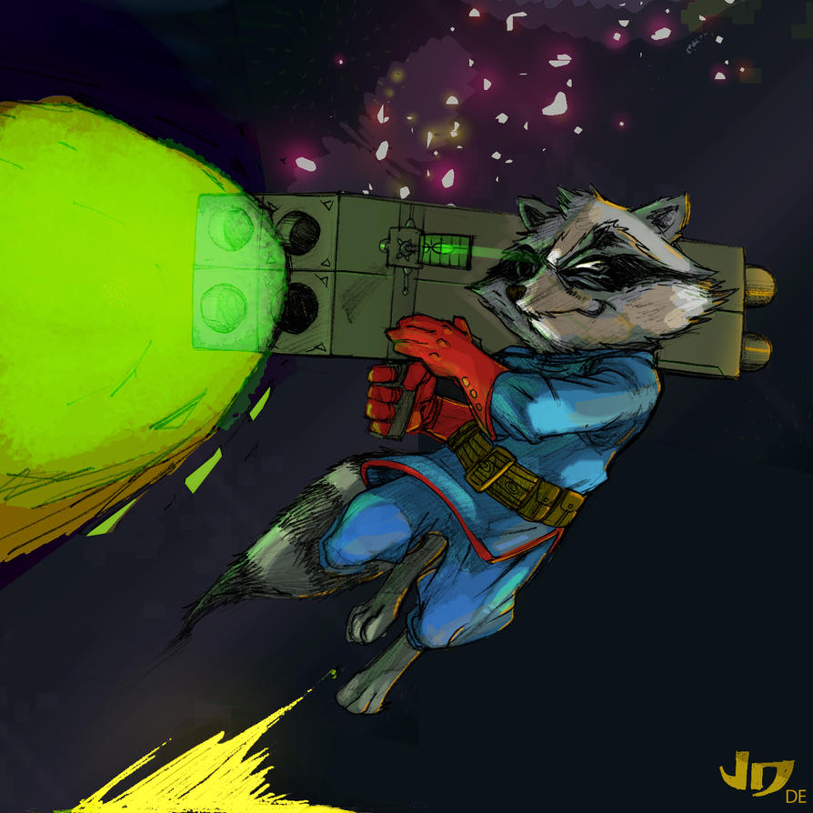 Dsc   Rocket Raccoon By Arsenalgearxx-d34kc8p Copy by DrewEiden