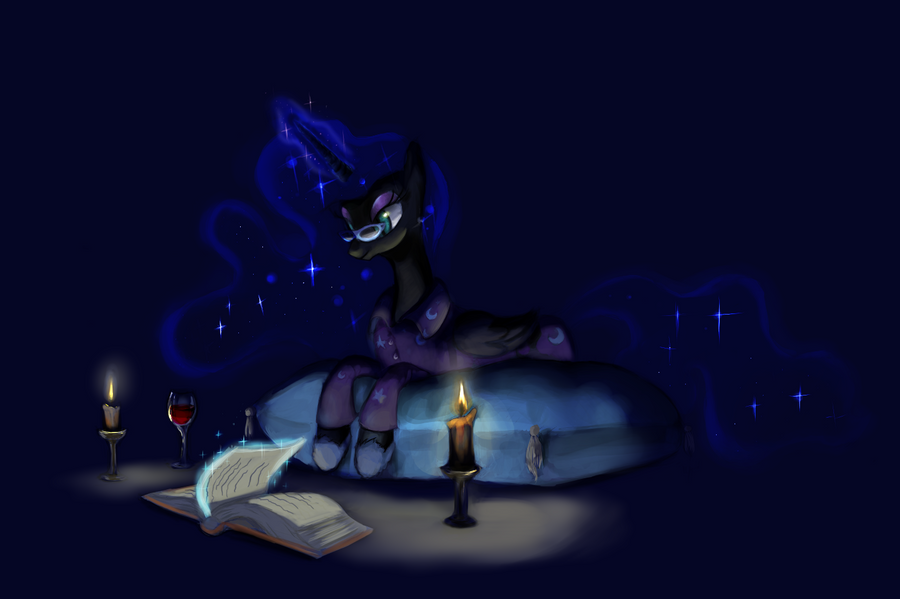 A Quiet Eternal Night at Home by lunarapologist