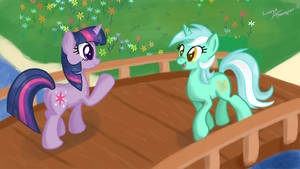 Lyra and Twilight by lunarapologist