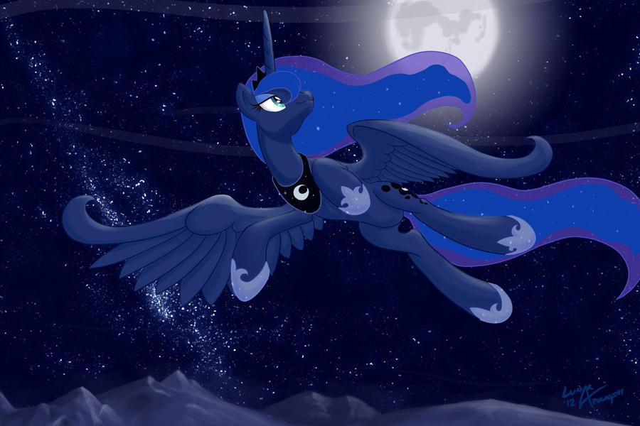 Bronycon Luna Print by lunarapologist