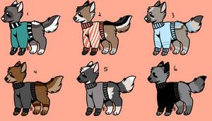 Sweater Doggo Adopts | SET PRICE | CLOSED!