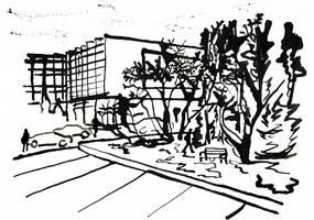 Sketch of my uni, entrance