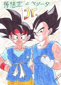 Son Gokou Jr. and Vegeta Jr. 1