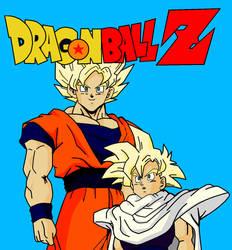 SSJ Goku and Gohan