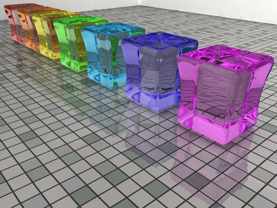 Blocks of glass by egresh