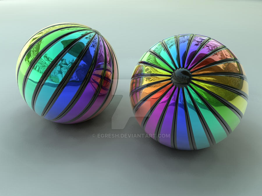 Striped balls 2 by egresh