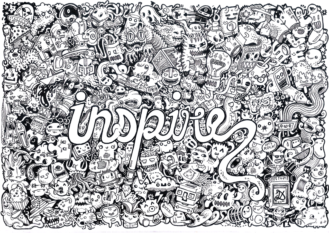 doodling coloring pages - inspire doodle by natas88 on deviantart