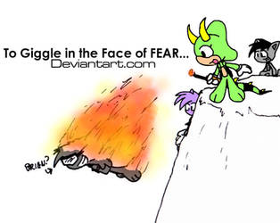 To giggle in the face of fear by Sandwich-Anomaly