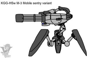 Mobile sentry gun by Sandwich-Anomaly