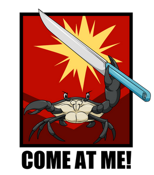 Crab with a knife