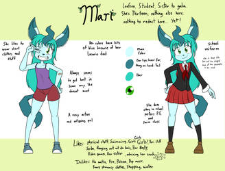 Reference sheet of a smol leafy thing by Sandwich-Anomaly