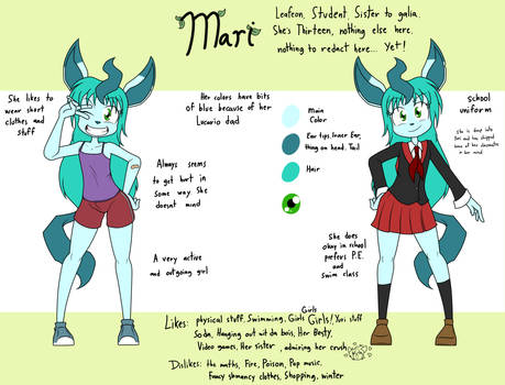 Reference sheet of a smol leafy thing