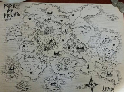 Map of the Continent of Arcov (October 2020)