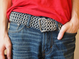 Wide Chainmaille Belt by Streetmail