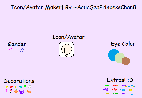 The Icon/Avatar Maker by AquaSeaPrincessChan8