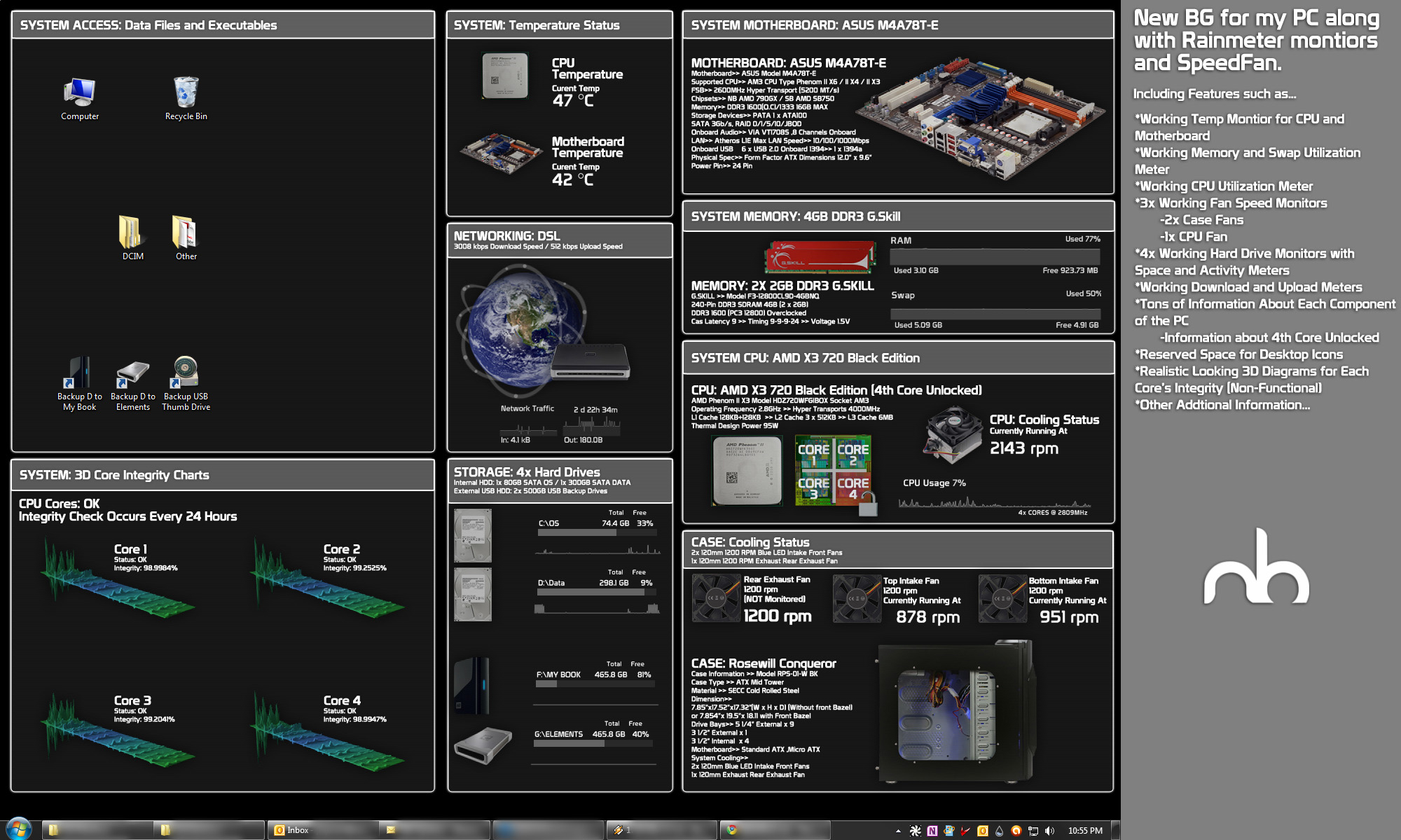 Art Monitoring System : Realistic system monitor bg v by mbgd on deviantart