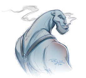 Grudge Sketch by KelleeArt