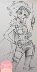 Phaedra Sketch by KelleeArt