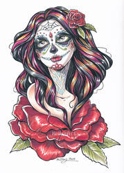 Dia de los Muertos final by KelleeArt