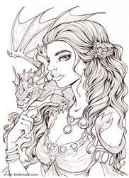 Daenerys Inks by KelleeArt