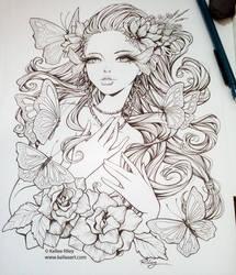 Monarch Inked by KelleeArt