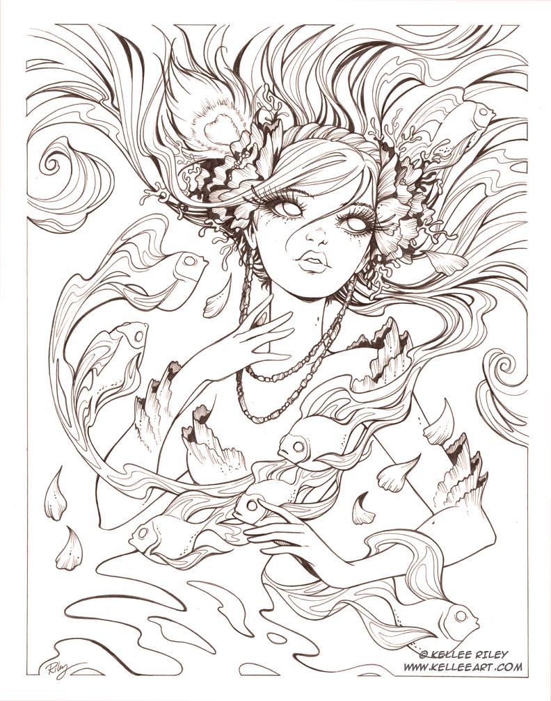 Chasing Dreams inks by KelleeArt