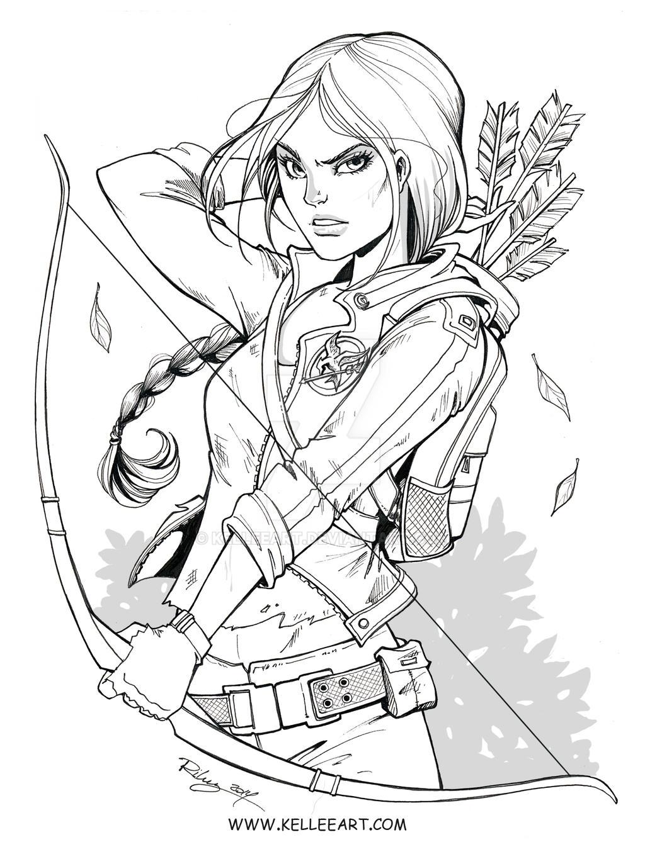 Katniss Ink by KelleeArt on DeviantArt