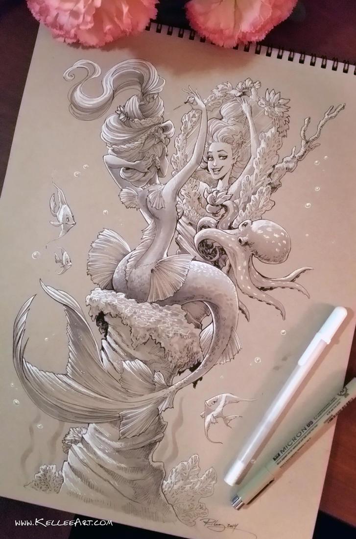 Mermaid #2 by KelleeArt