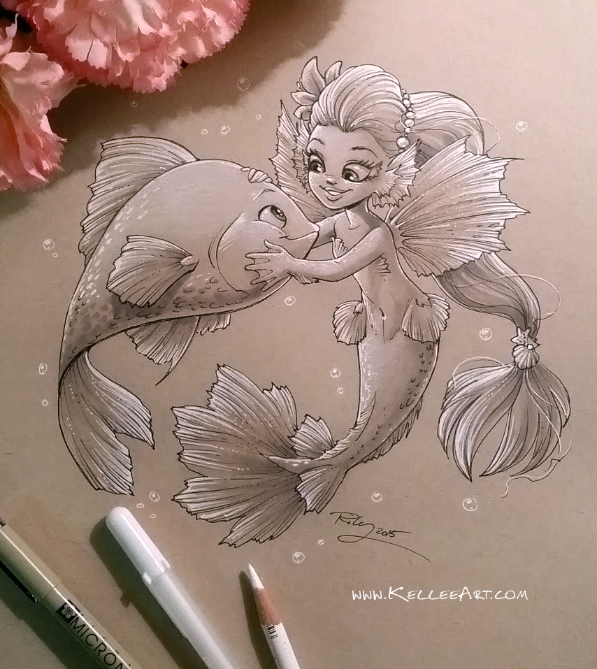 Mermaid 4 by KelleeArt
