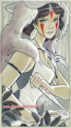 Princess Mononoke for Bear and Bird Gallery show