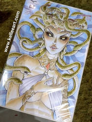 Medusa sketch cover commission  by KelleeArt