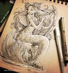 Mermaid with Harp