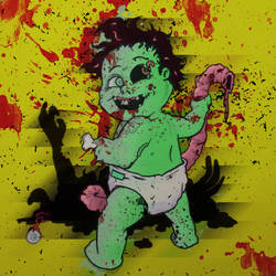 Baby Zombie by sin-drome