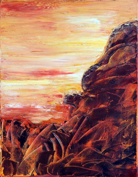 ROCKY LANDSCAPE I by ARTBYTERESA