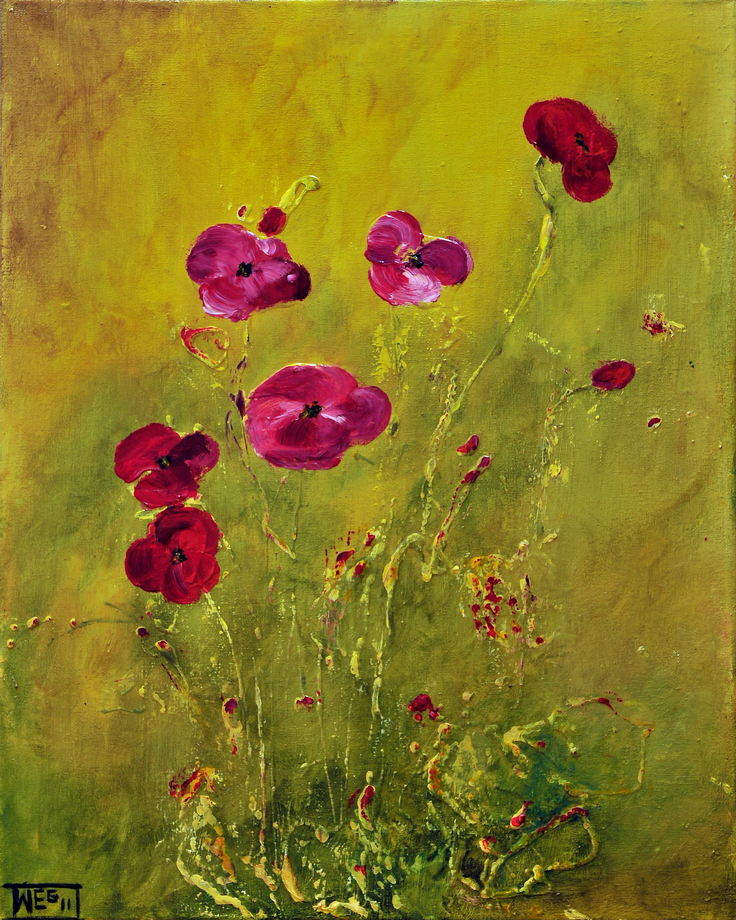 LONELY POPPIES by ARTBYTERESA