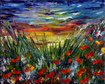 POPPIES FIELD SUNSET