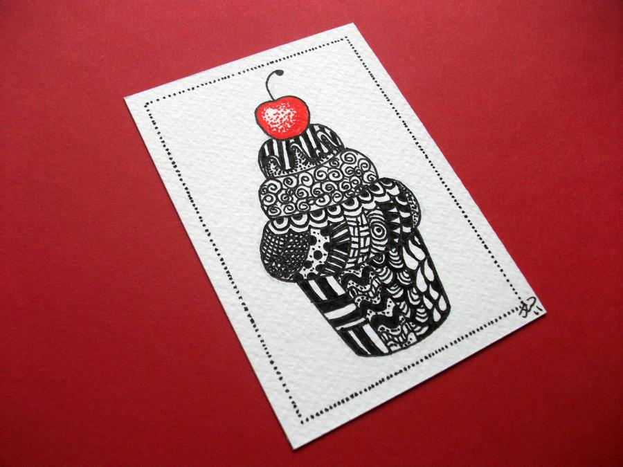 Zendoodle Cupcake by JoArtyJo