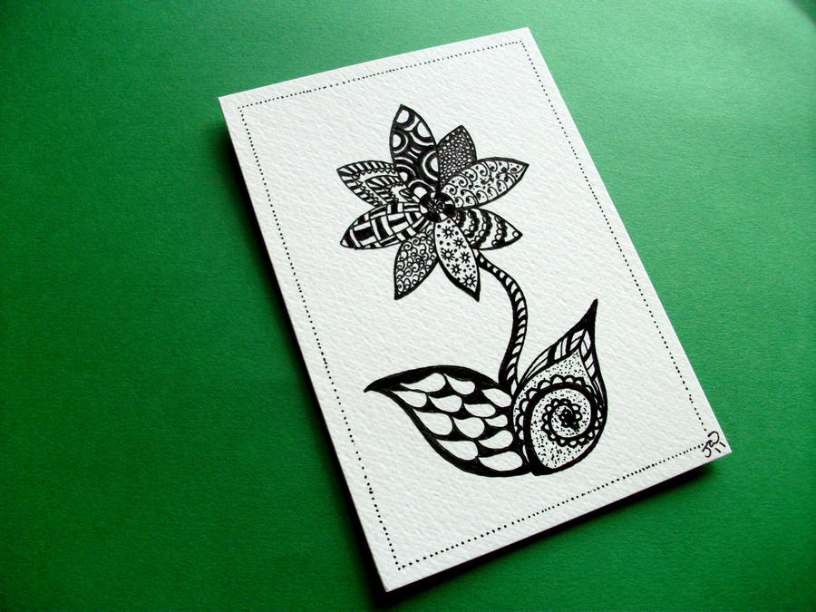 Flower Zendoodle by JoArtyJo