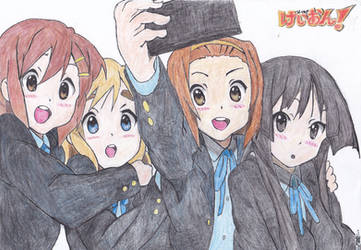 K-ON! GroupPicture ColoredLineArt 20191128 R1