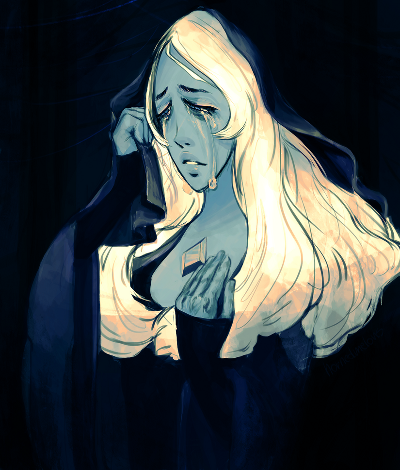 drew Blue Diamond from Steven Univese I love her face and actually all of her design, a lot