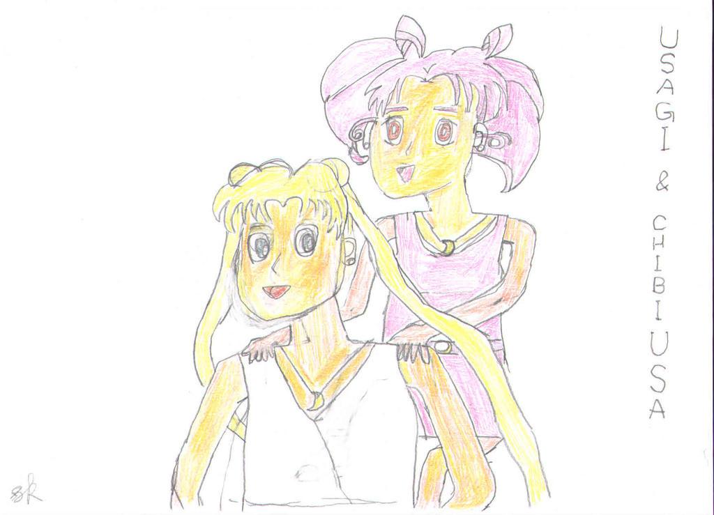Usagi and Chibiusa: Gift for UsagiChiba-Selenit by Kolser95