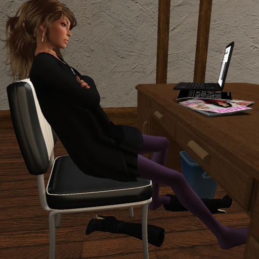 Becky bored in her office by spreadKimness