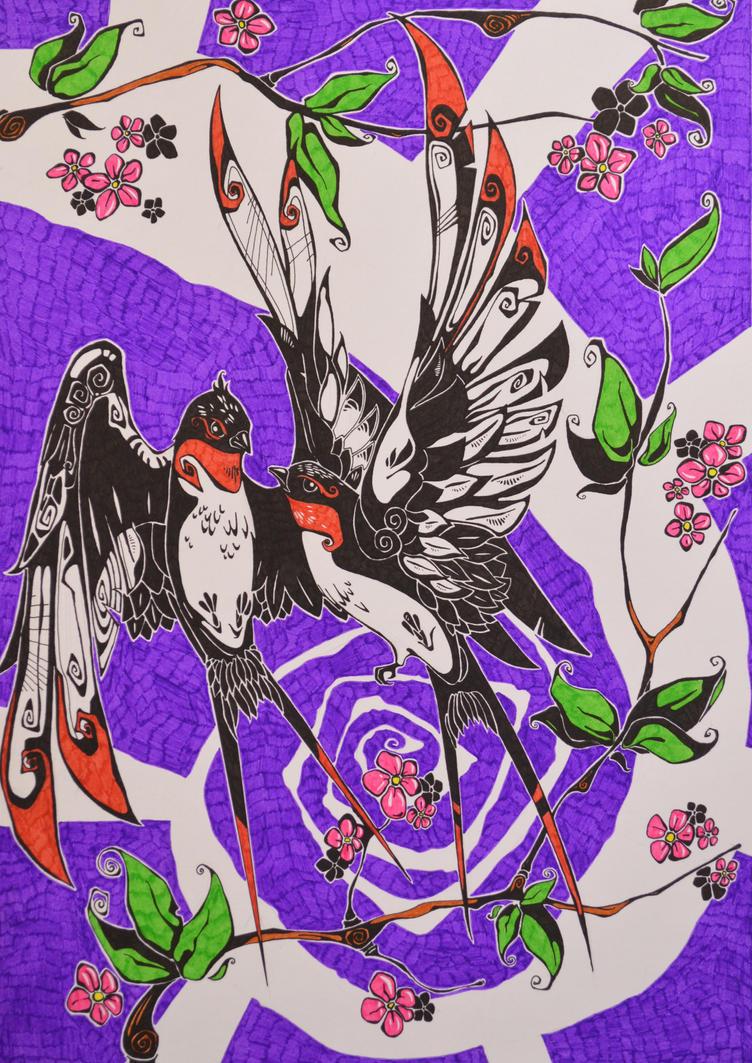 SWALLOWS IN DEATH by FERDINAND23