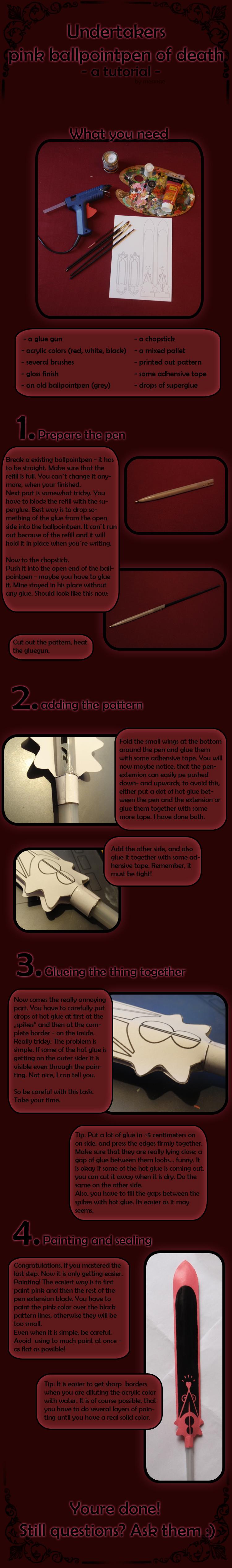 Pink Ballpointpen - tutorial by Meanae