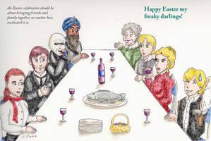 Happy Easter my freaky darlings by drakenadestroyer