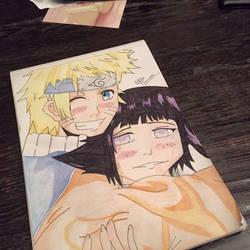 Naruto and hinata  by dakotaaaaaa-chan