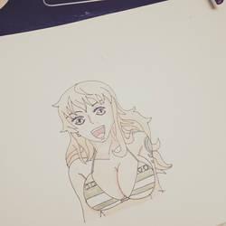 Quick sketch of nami.  by dakotaaaaaa-chan